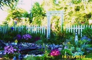 Water Garden at Jackie's Home, Oct. 2002