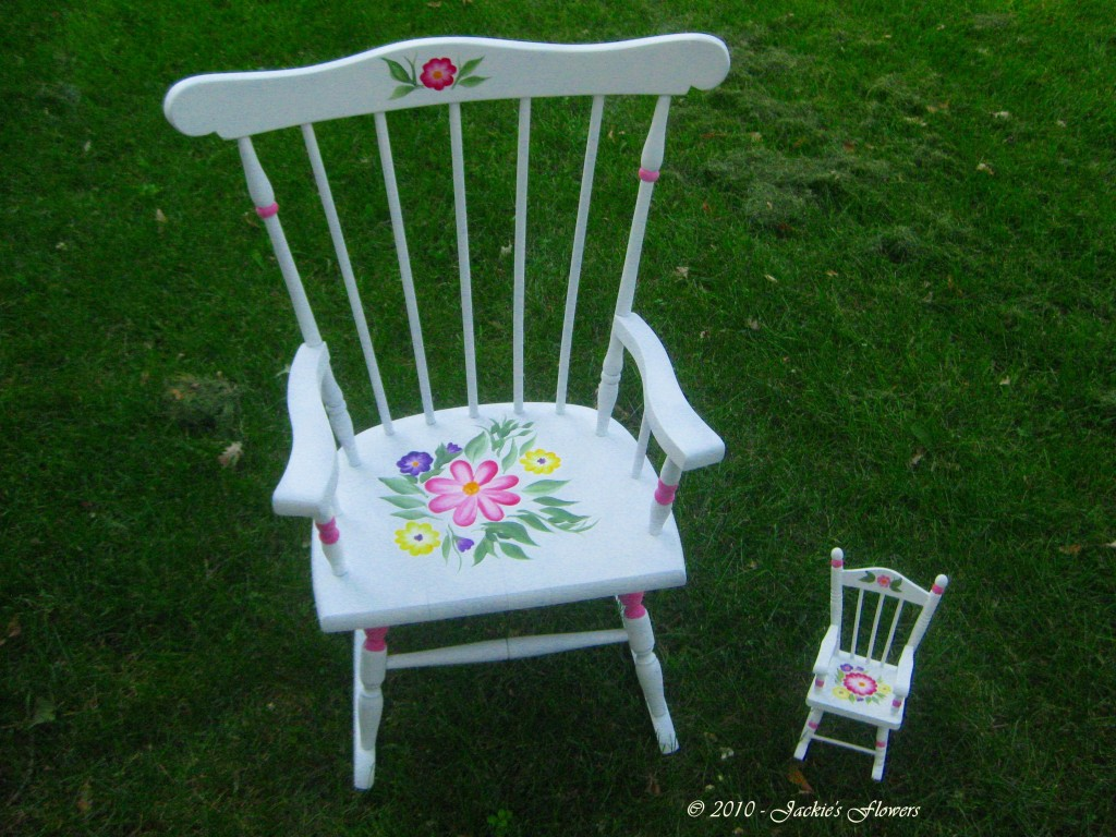 Painting these chairs to match was fun and relaxing.