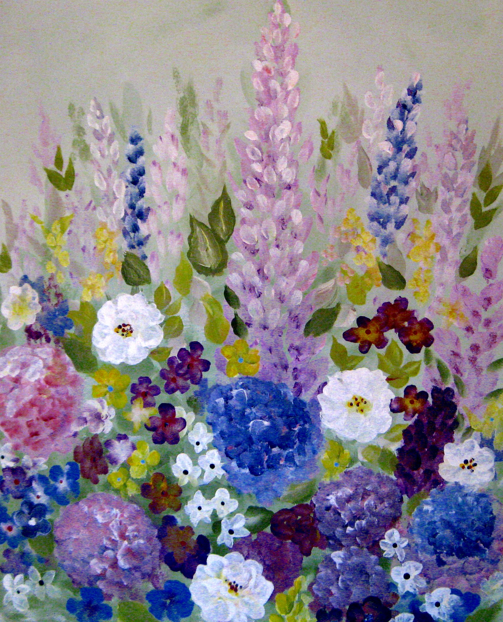 Acrylic painting the good thing about gardening crafting for Acrylic mural paints